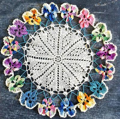 Easy Crochet Doily For Beginners Crochet Doilies Floral Doily