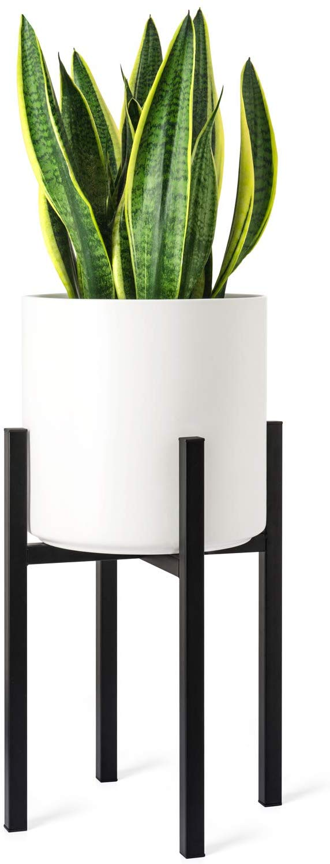 Amazon Com Mkono Plant Stand Mid Century Modern Tall Flower Pot Stands Indoor Amazoncom Century Flower Ind In 2020 Plant Stand Indoor Plant Pots Plant Holders