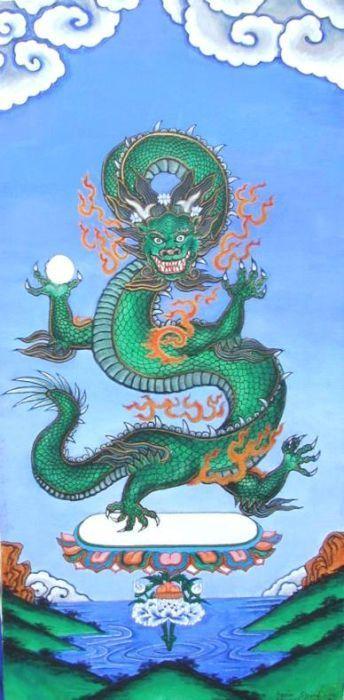 5d4063d8d Tibetan dragon - painting | TIBET~ in 2019 | Tibetan dragon, Dragon ...