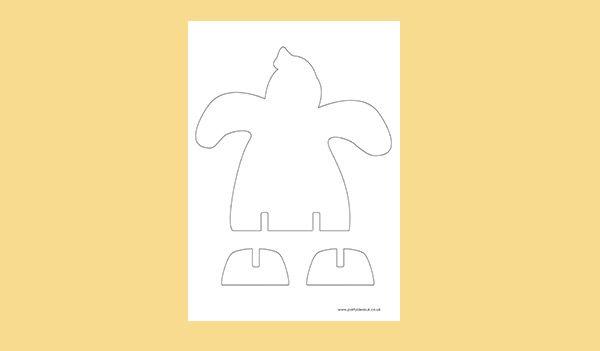 3D Ghost Gingerbread Template for cookies. Digital PDF File.  FREE PDF DOWNLOAD