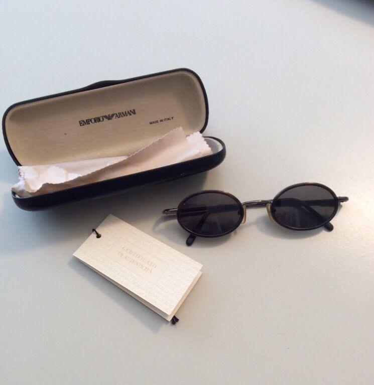 4de574b8041b Vintage Emporio Armani Sunglasses Rare Find Round Deco Style