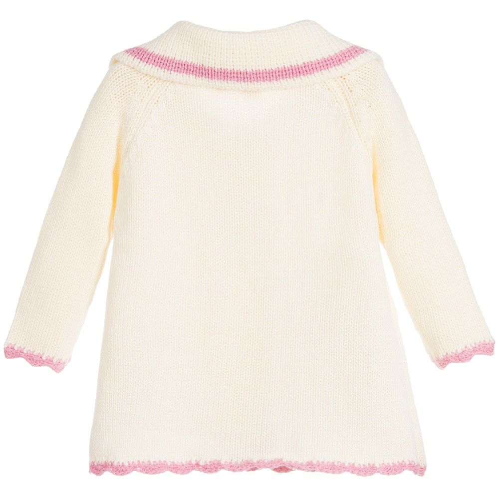 95bba09bd Girls Ivory Knitted Cardigan