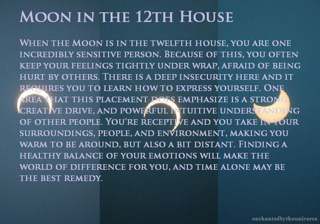 Enchanted By The Universe Moon In The 12th House Birth Chart Astrology Astrology And Horoscopes Astrology