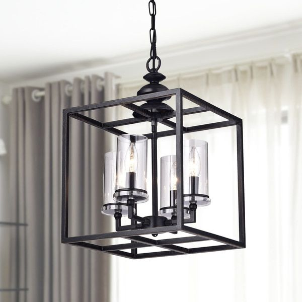 Clay Alder Home Verrarzano 4 Light Antique Black Lantern
