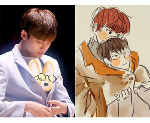Aaaaaw when wonwoo was sick seventeen used a stuffed animal