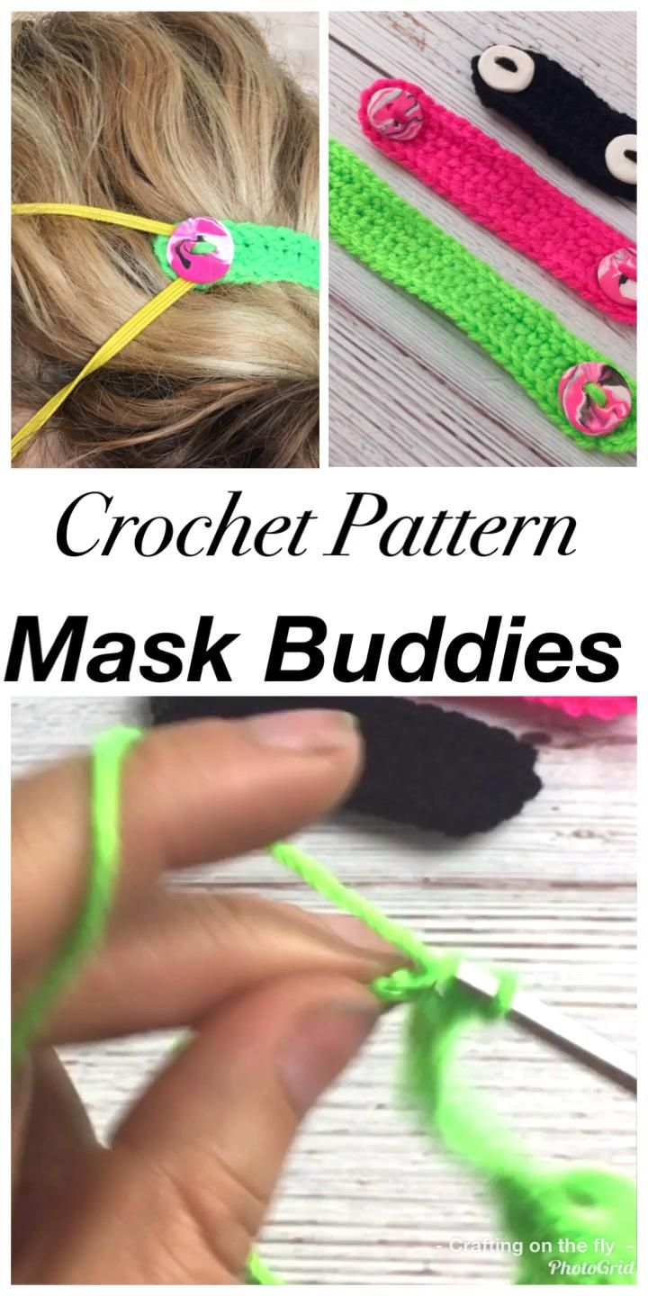 Face Mask Buddies Crochet Pattern - Crafting on the Fly