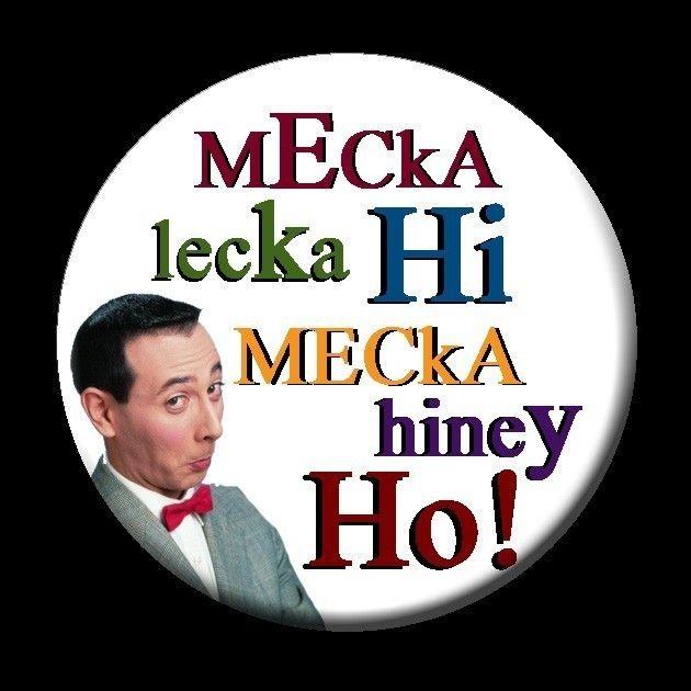 Mecka Lecka Hi Mecka Hiney Ho BUTTON by mindseyecards on Etsy