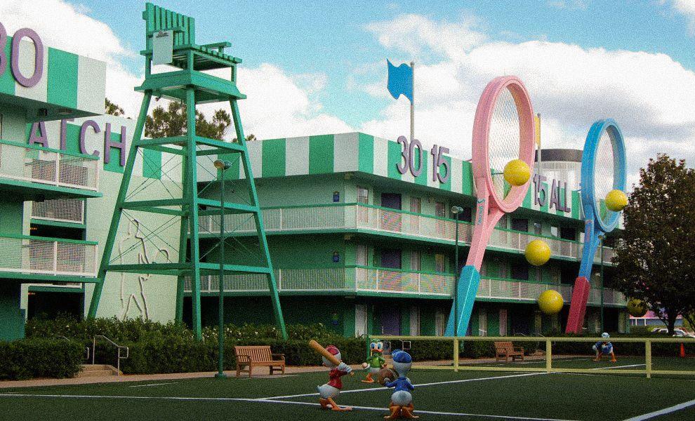 Disney's AllStar Sports Resort, Arquitectonica, Orlando