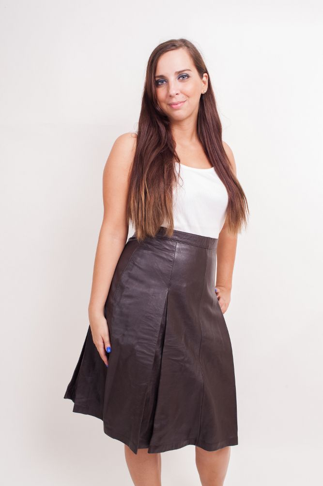 Women In Slit Skirts - ExtraVital Fasion | leather_skirt ...