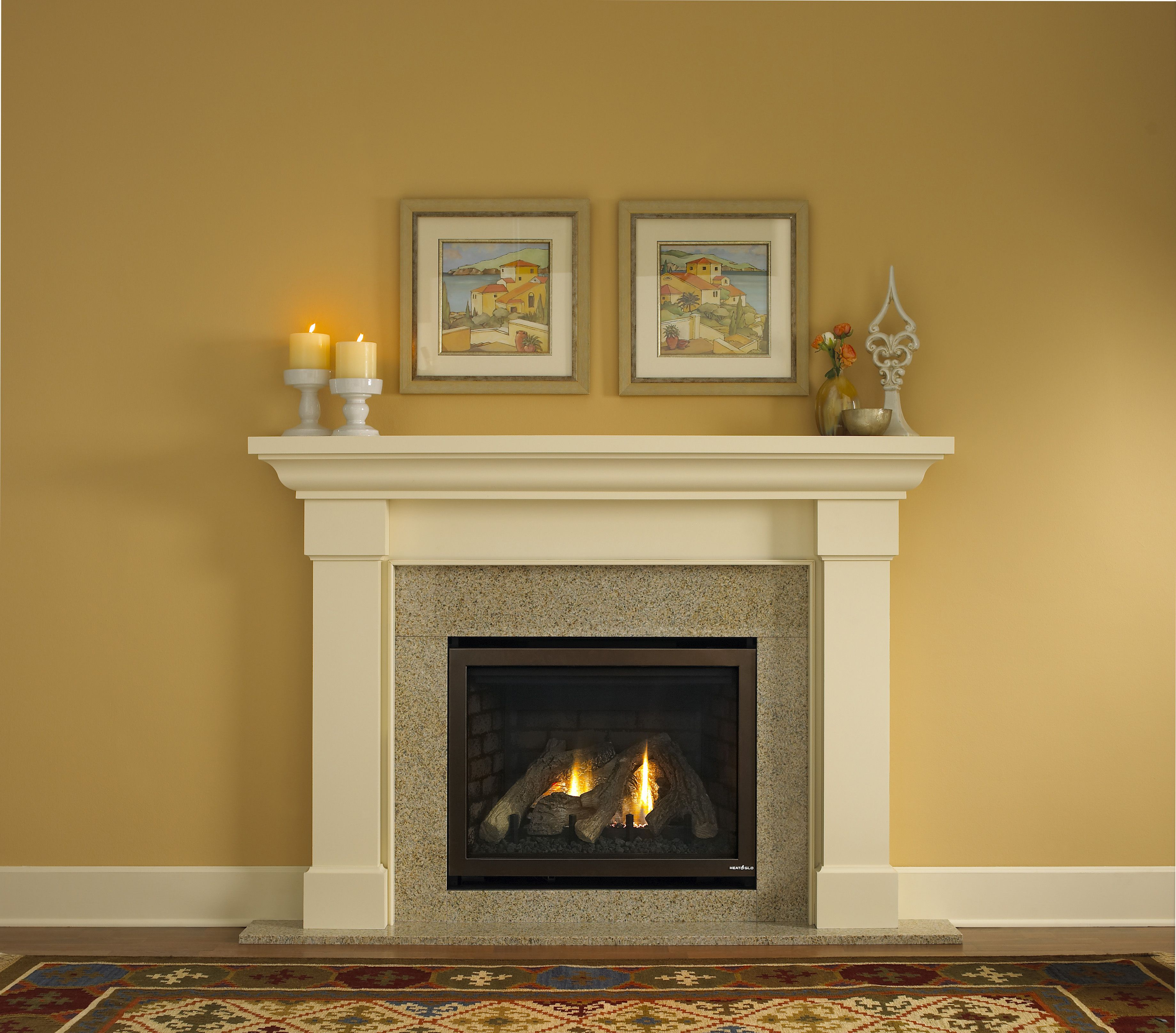 Love That Fireplaces With These White Molded Surround Mantles Are