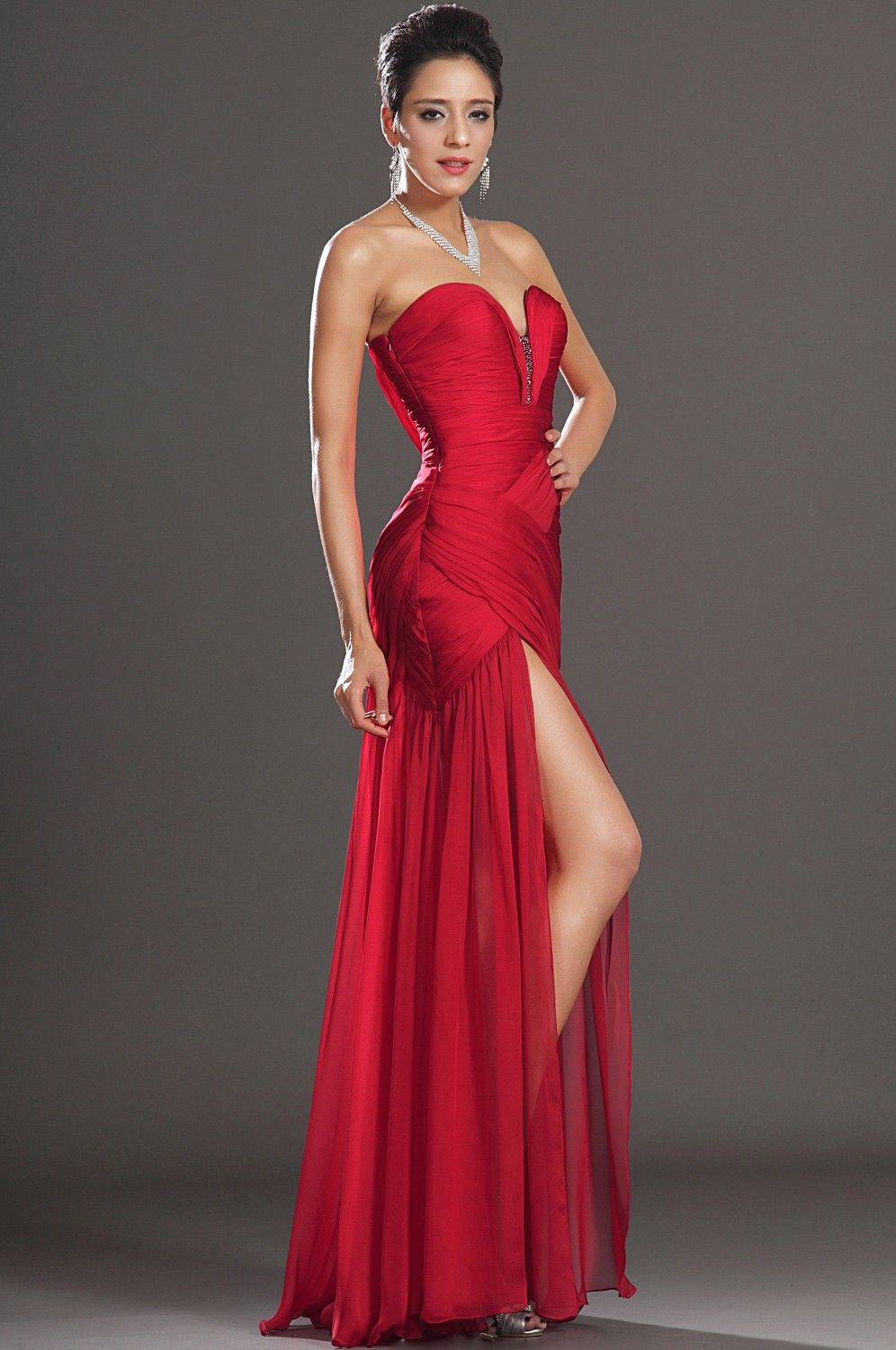 red-sweetheart-floor-length-chiffon-sheath-column-prom-dress-with ...