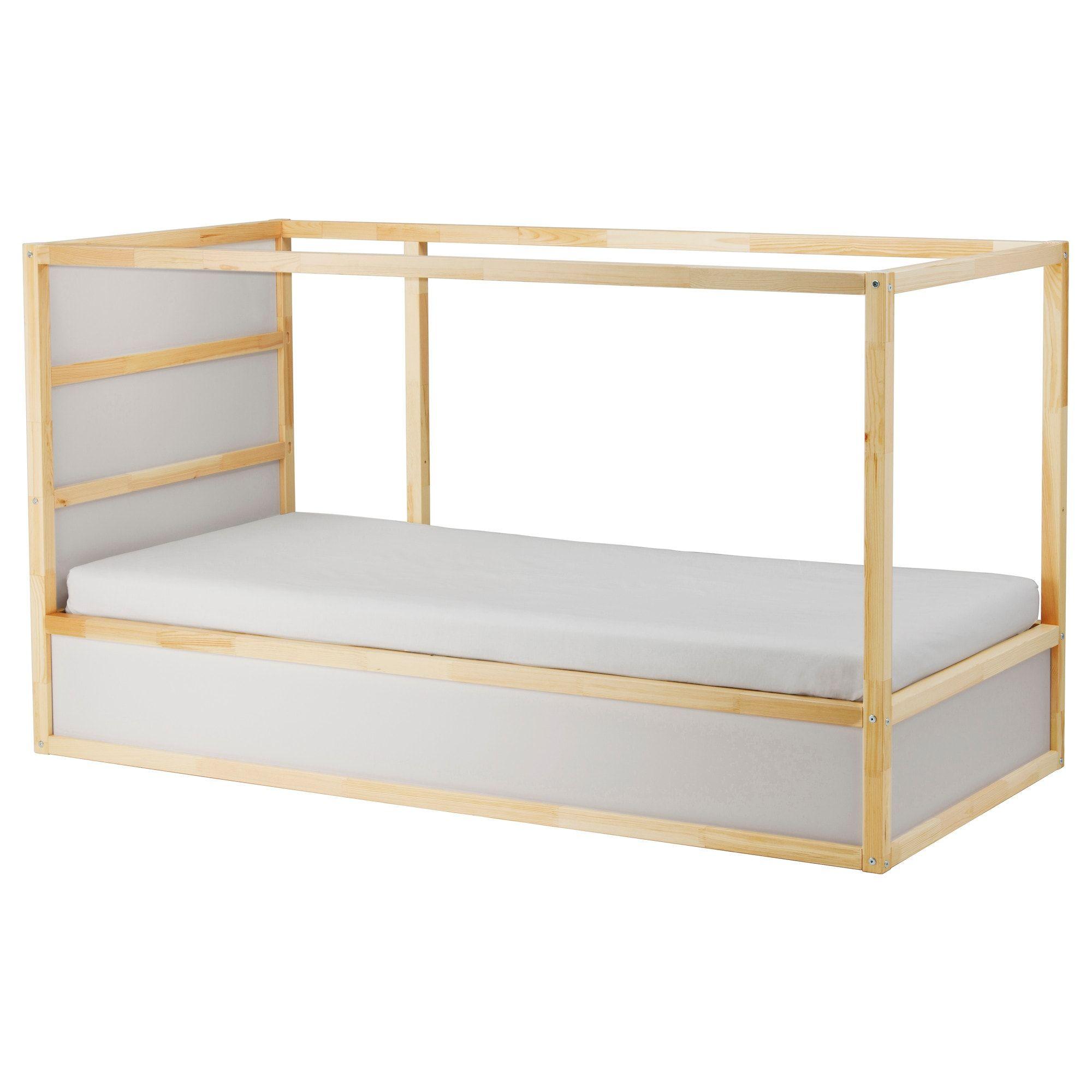 Kura Lit Reversible Blanc Pin 90x200 Cm Ikea In 2020 Loft Bed Frame Ikea Bed Ikea Kura Bed
