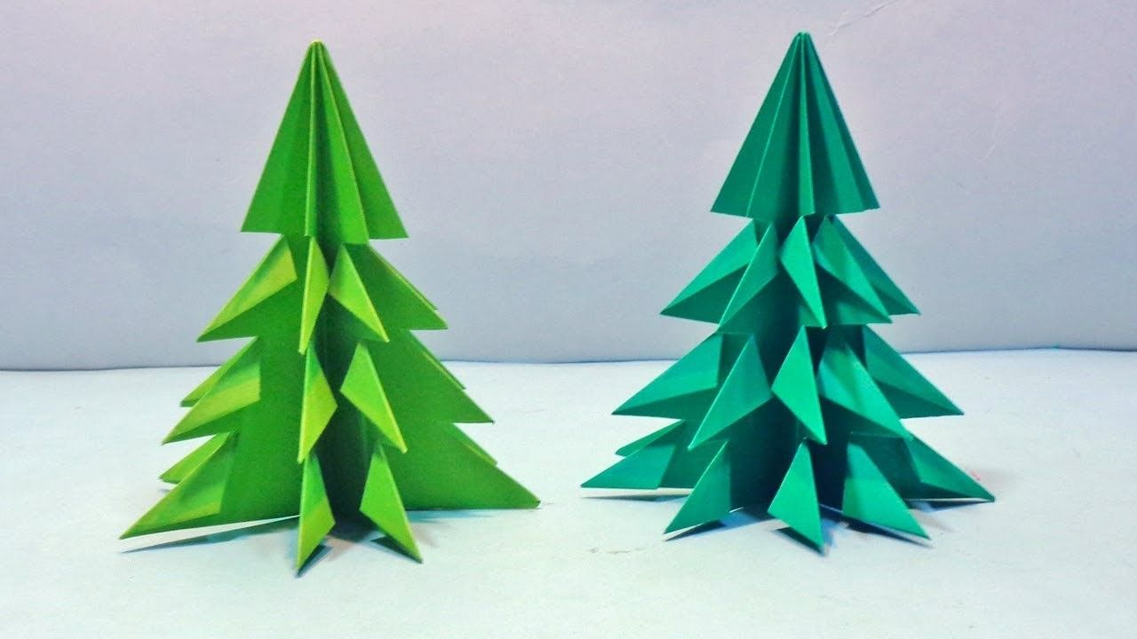 How To Make 3d Paper Christmas Tree Diy Paper Xmas Tree Tutorial For Decorations Christmas Tree Crafts Diy Diy Paper Christmas Tree Origami Christmas Tree