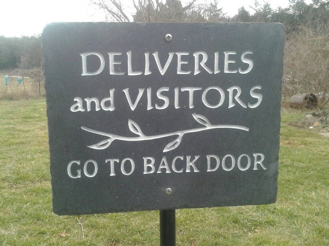Custom Engraved Slate Signs With Images Slate Signs Custom