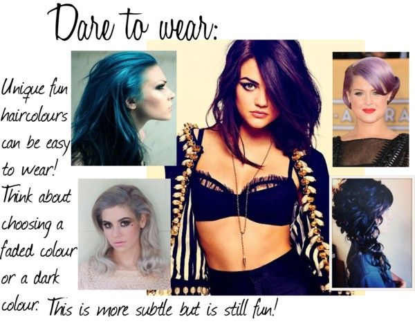 """Dare to wear: Fun haircolours"" by kinyobiko ❤ liked on Polyvore"