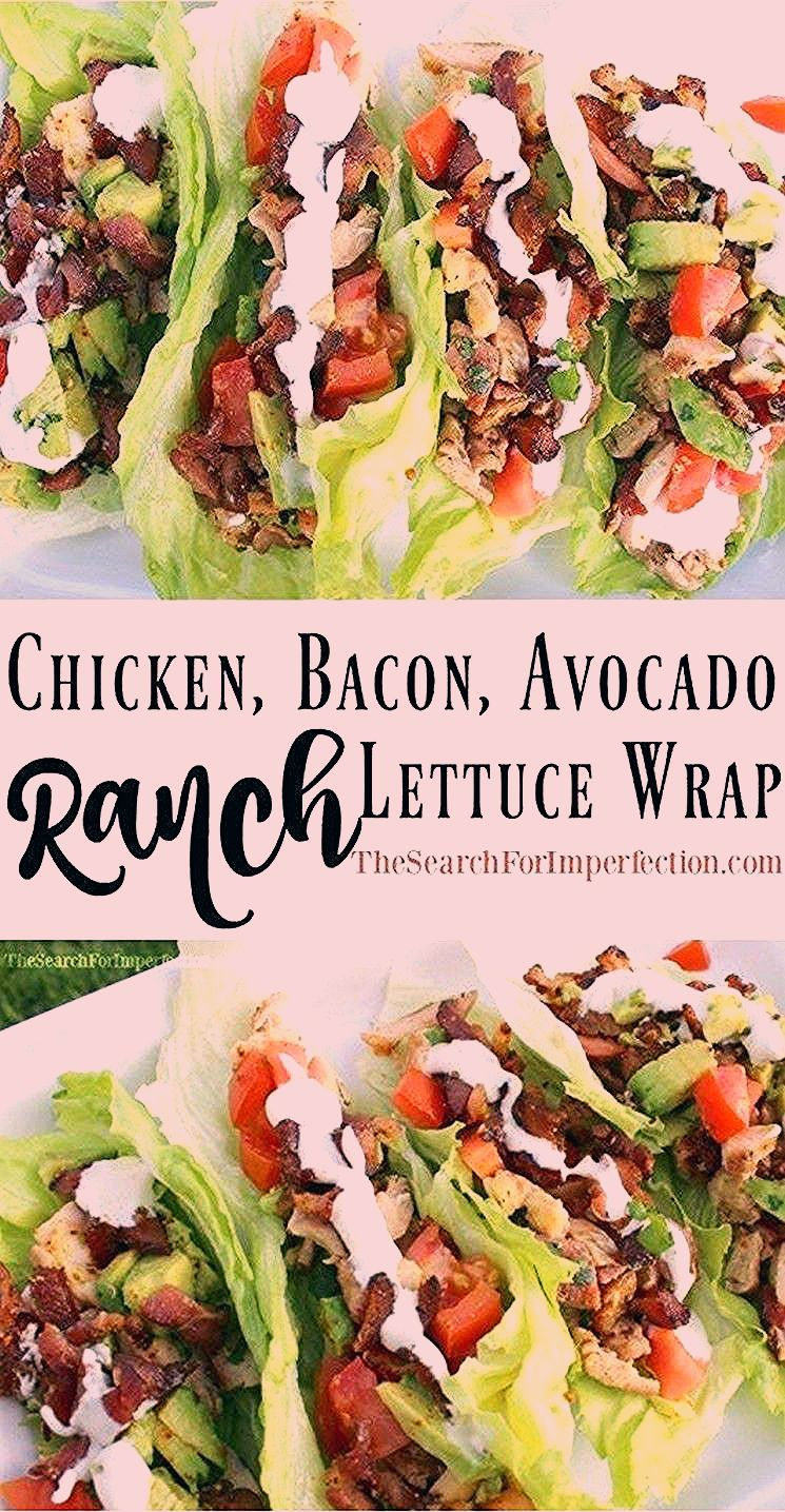 Keto-Rezepte | Hühnchen, Speck, Avocado Ranch Salat Wraps -  Perfecto Chicken, Bacon, Avocado Ranc