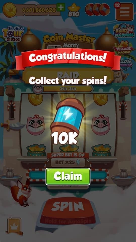 coin master free spins today daily links