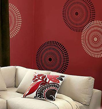 red base with black white motive placement print house rh pinterest com