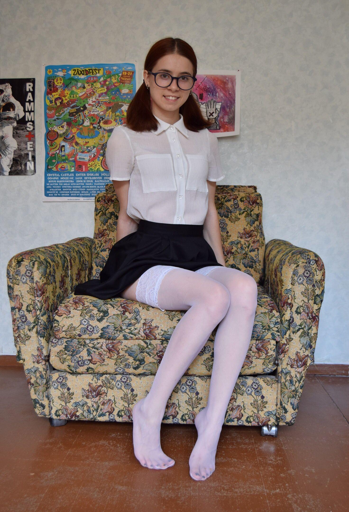 Topic women wearing white pantyhose variant