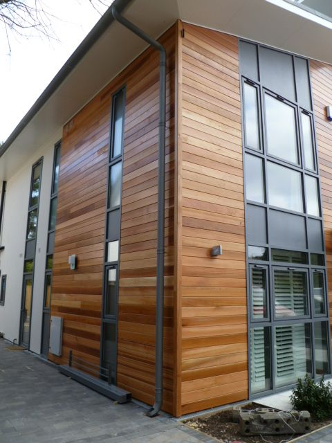 Zinc Gutter Downpipe Timber Cladding Fasady Domov Dizajn Vneshnego Vida Doma Vneshnij Vid Doma
