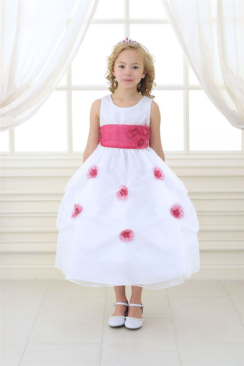 Click to buy ucuc new ankle length flower girl dresses sleeveless