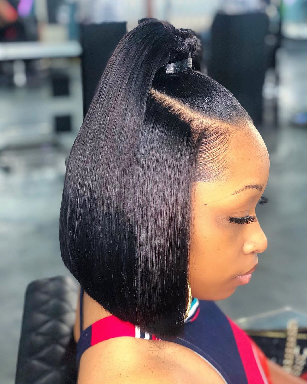 Bob Cut Ponytail : ponytail