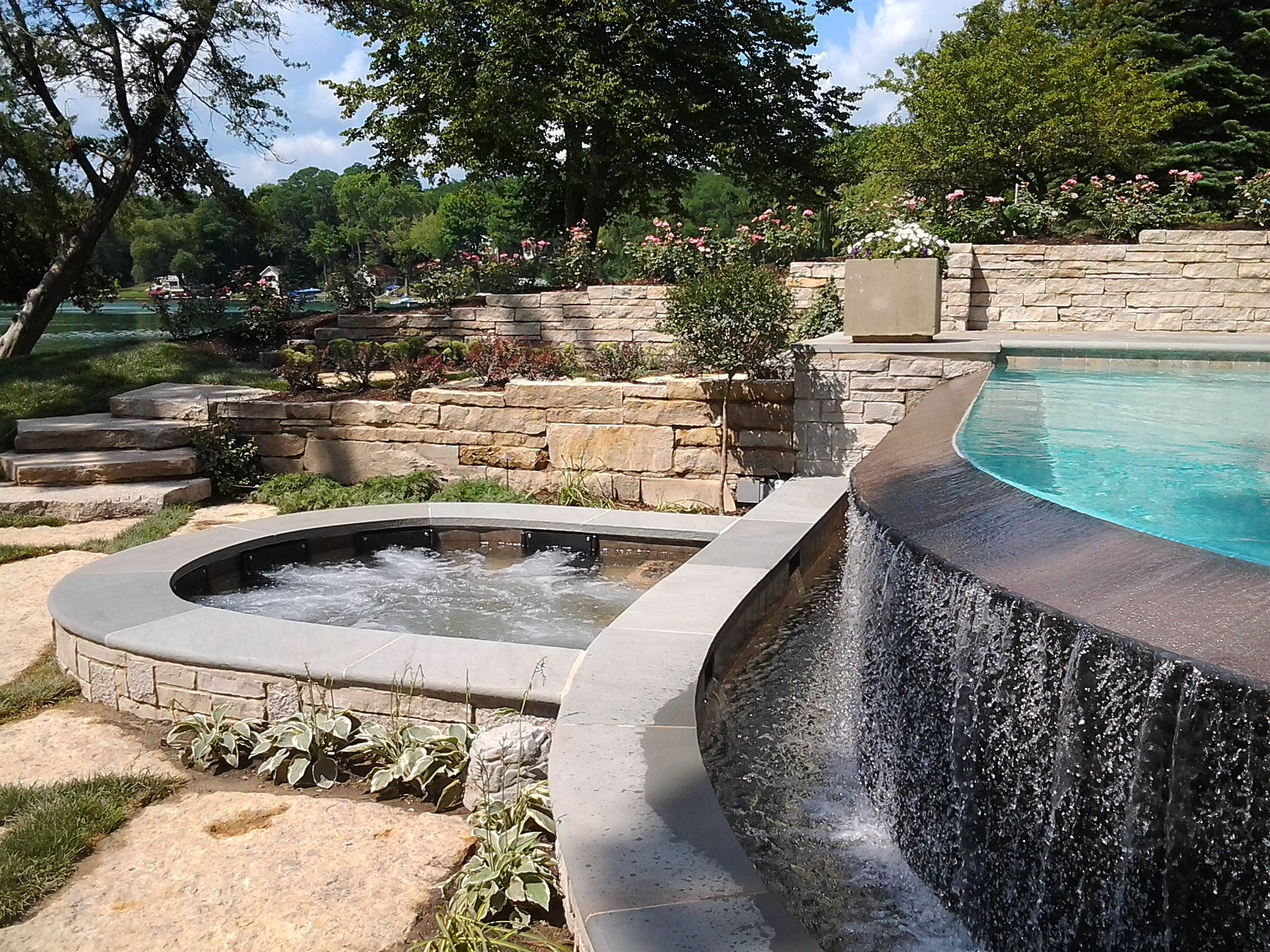 genoa city wi custom infinity edge pool u0026 spa quantus pools