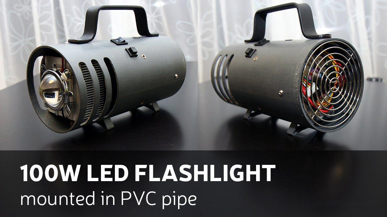 Diy 100w led flashlight mounted in pvc pipe projects diy 100w led flashlight mounted in pvc pipe solutioingenieria Choice Image