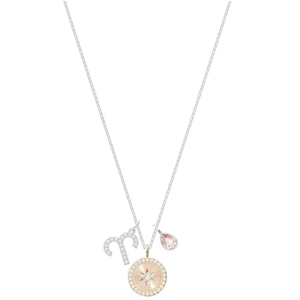 Swarovski Zodiac Pendant - Aries - Pink - Rhodium plating - 5349220, Women's