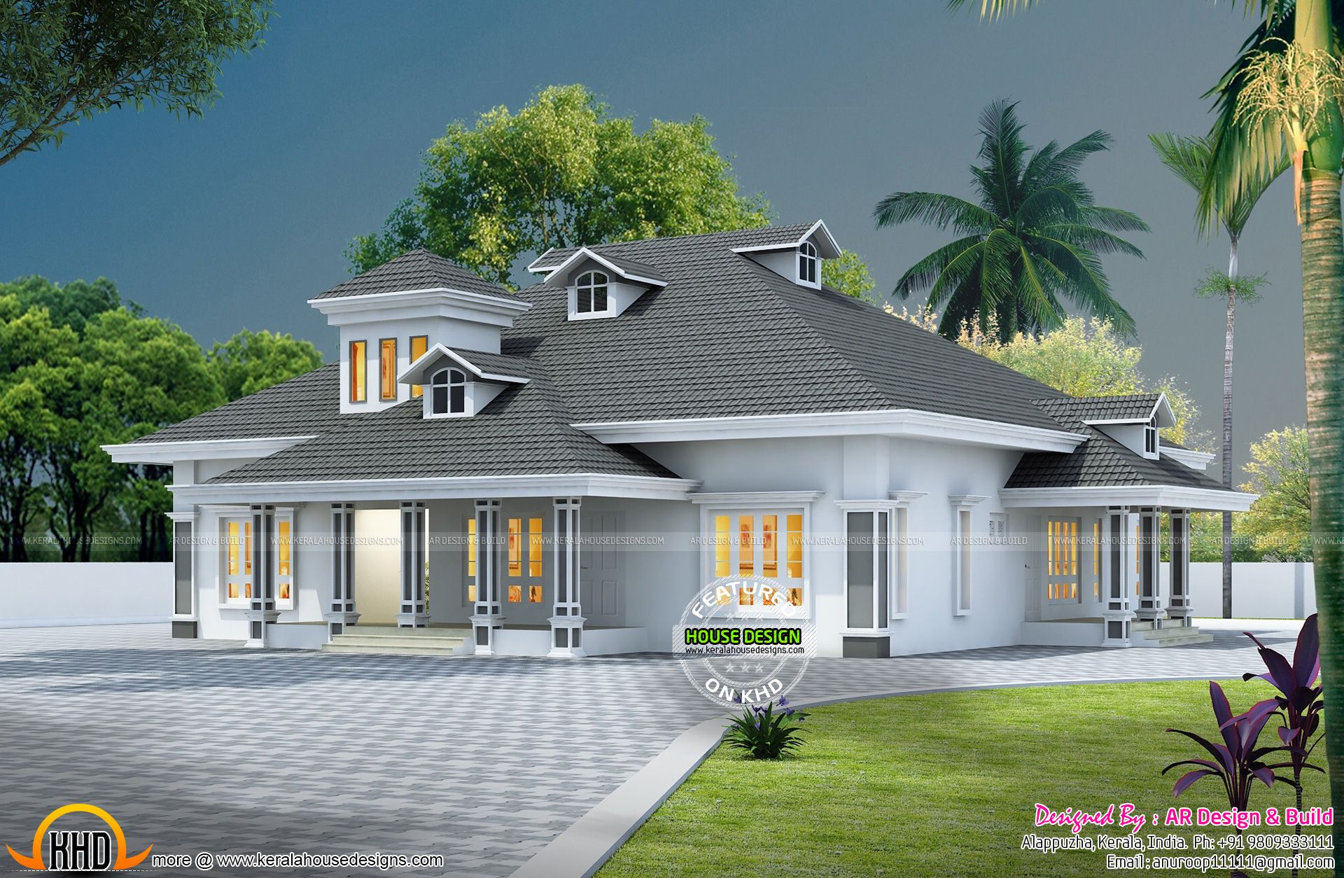 House exterior plans india also hiqra kerala design rh pinterest