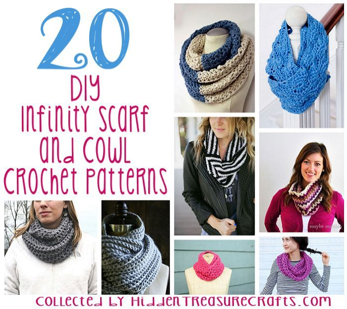 Basic Chunky Cowl Beginner Crochet Pattern Infinity Scarves And