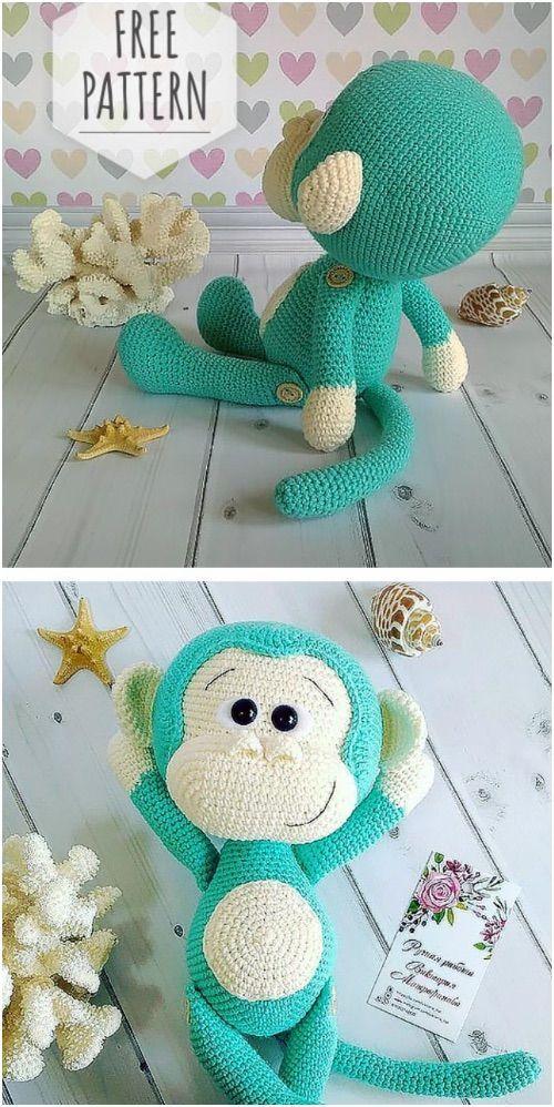 Amigurumi Monkey #amigurumifreepattern