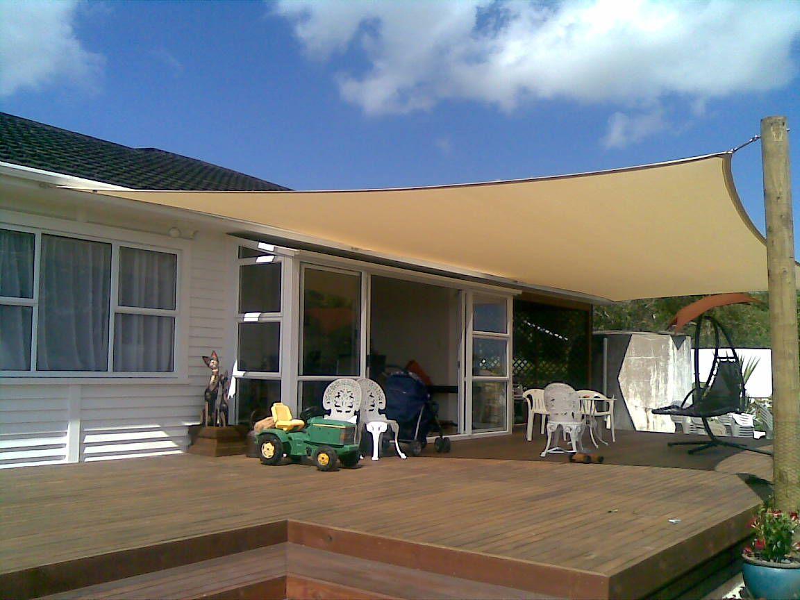 Zacieniacz przeciwsłoneczny kwadratowy 360 cm beige