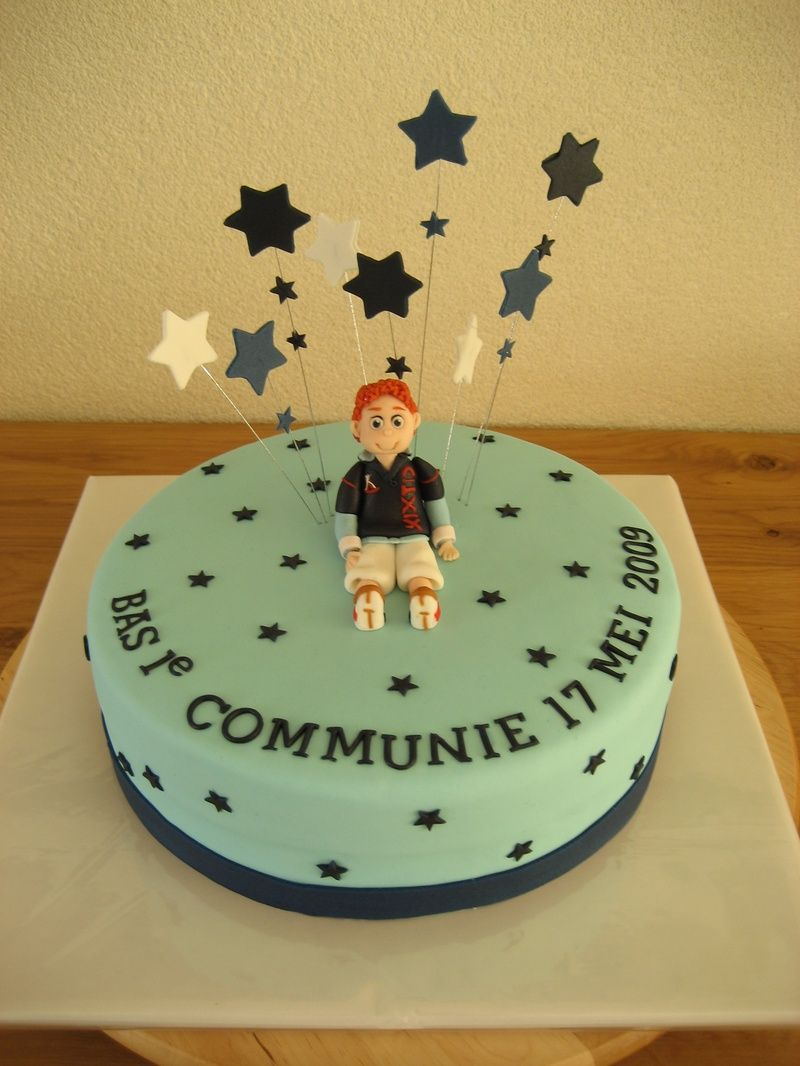communie taart Taart met sterretjes | eerste communie ideetjes | Pinterest communie taart