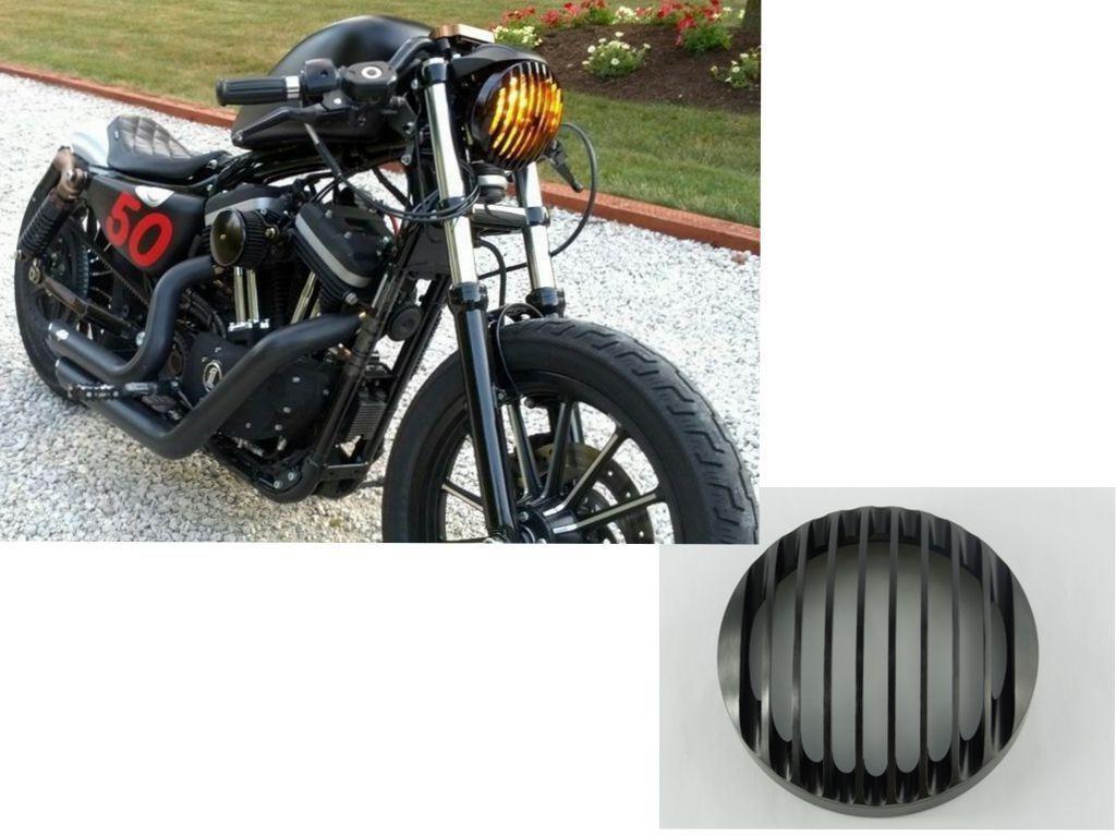 phare grille headlight aluminium harley davidson sportster xl883 1200 04 2014 ebay moto. Black Bedroom Furniture Sets. Home Design Ideas