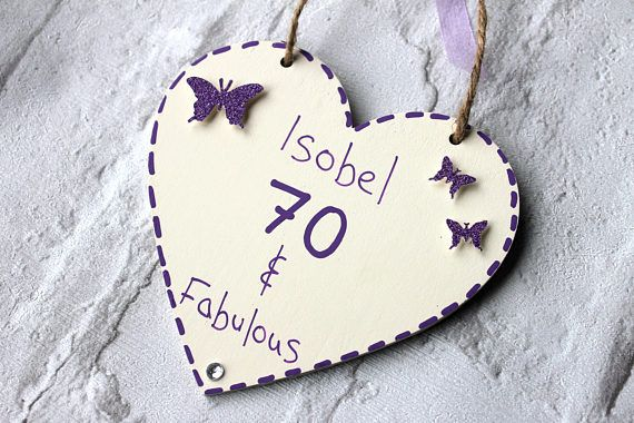 70 And Fabulous 70th Birthday Gift For Women