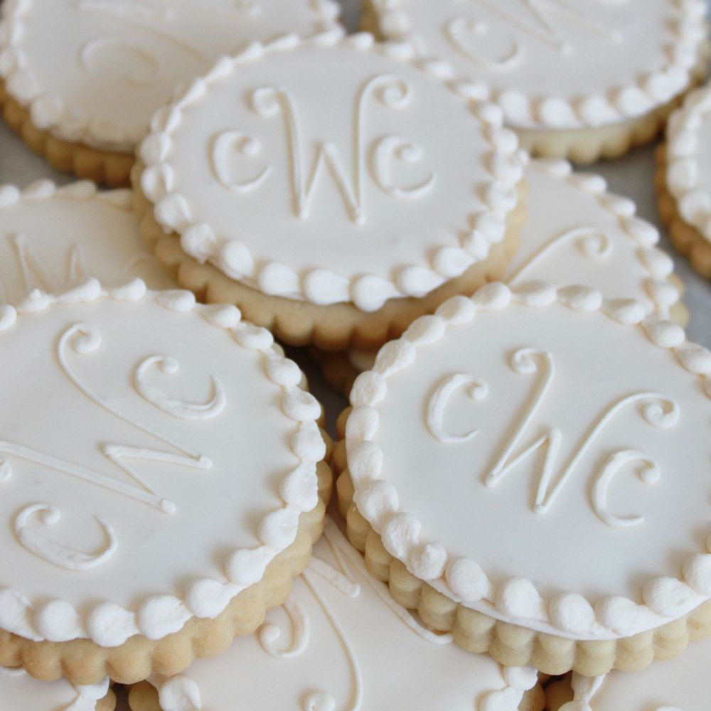 Ivory Monogram Cookie Gift Box (Vanilla) Half Dozen - MADE TO ORDER ...