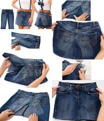 55af52ae4 como hacer una falda con jeans viejos - Buscar con Google | costuras ...