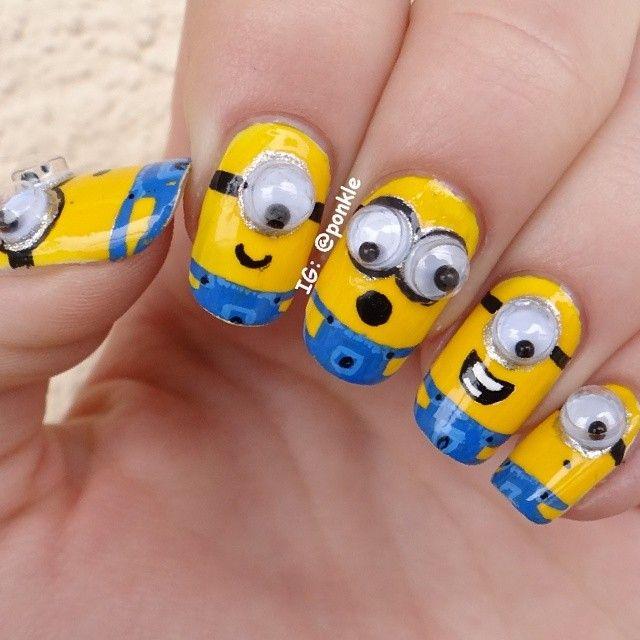 minions by ponkle #nail #nails #nailart   uñas   Pinterest   Diseños ...