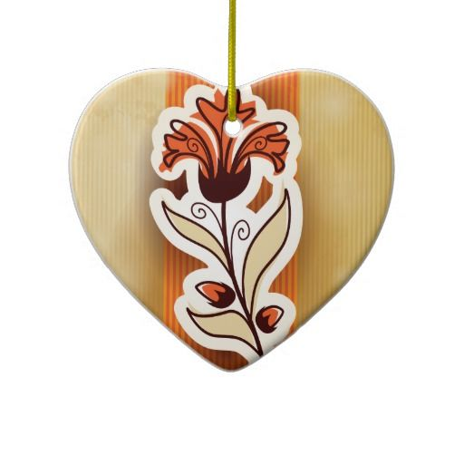 Modern decor with flower, #ornament by PinkHurricane #Zazzle store :)