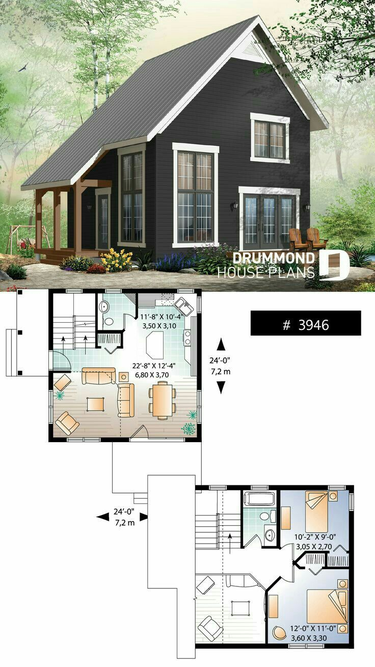 Pin By Kafr Frak On Architecture Tiny Cabin Design Tiny Cabin Plans Cottage Design Plans