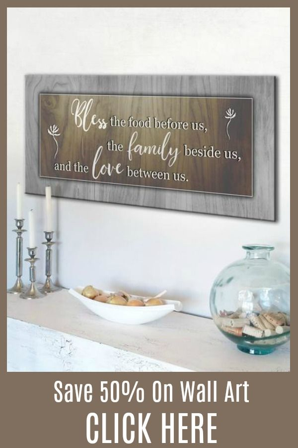 Bless the food before us wall art wood frame ready to hang wall decor 50th and kitchens