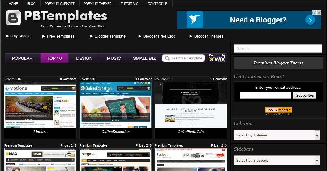 Blogger Templates 2018 And Premium Blogspot Themes Free And Premium