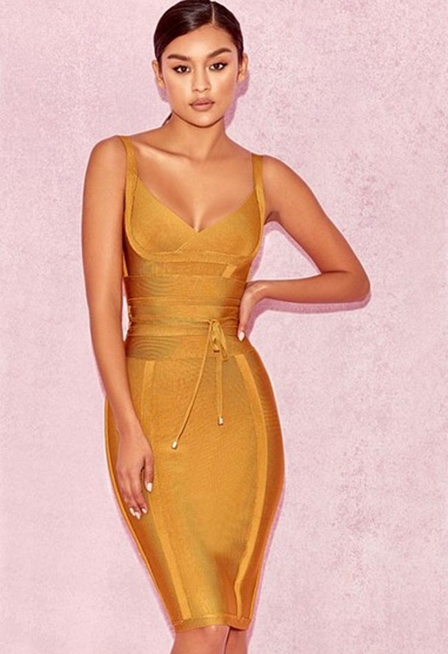 0d7f3d342fe0f V Neck Spaghetti Strap Bandage Dress | Clothes | Dresses, House of ...