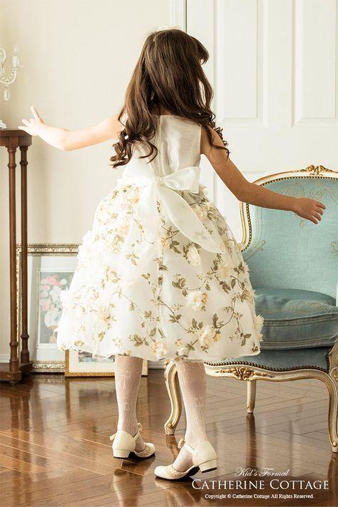 0629976c7de44 発表会、結婚式に!フラワープリントが映える MB354。子どもドレス 子供 ...