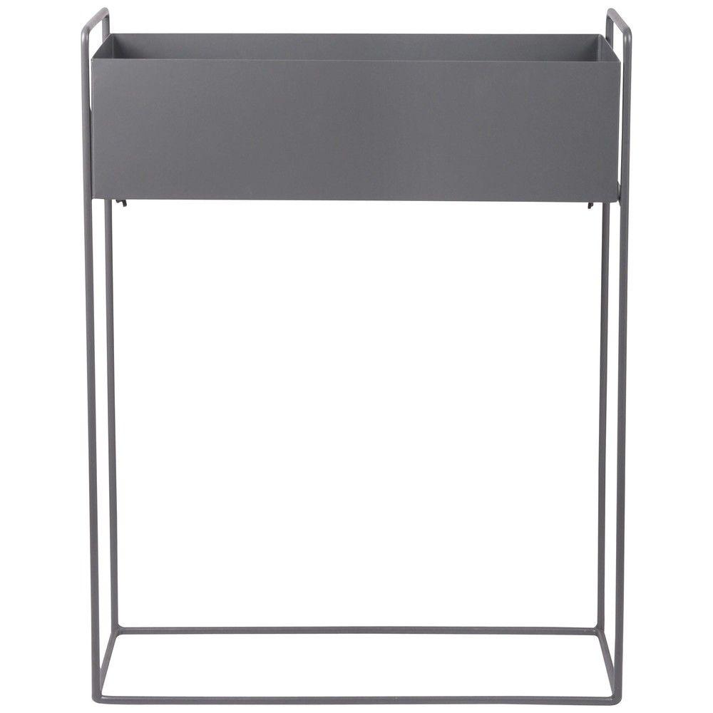 Maison Du Monde Terrazzo jardinière en métal gris anthracite 56x74 | metal window