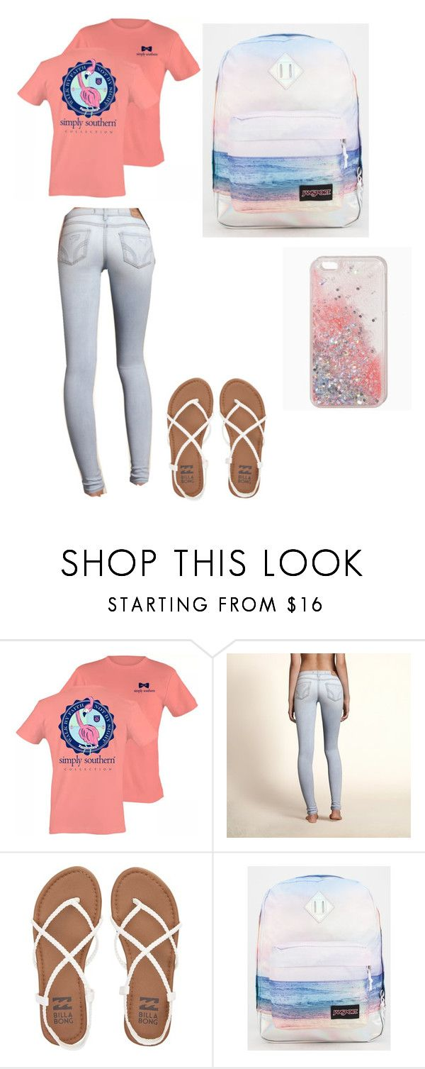 """""""Untitled #1"""" by sberger0410 ❤ liked on Polyvore featuring Hollister Co., Billabong and JanSport"""
