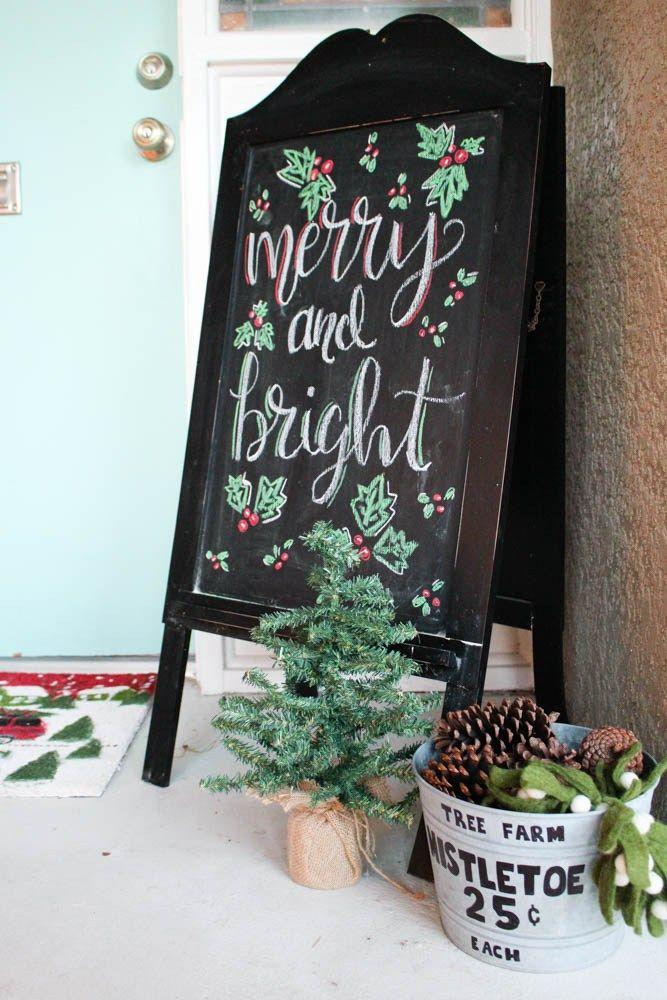 Chalkboard-for-the-front-door Chalkboard Stuff Pinterest Front