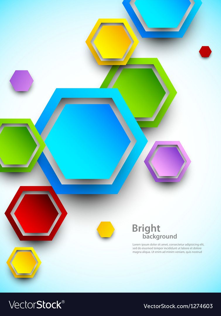 Abstract background with colorful hexagons vector image on ...