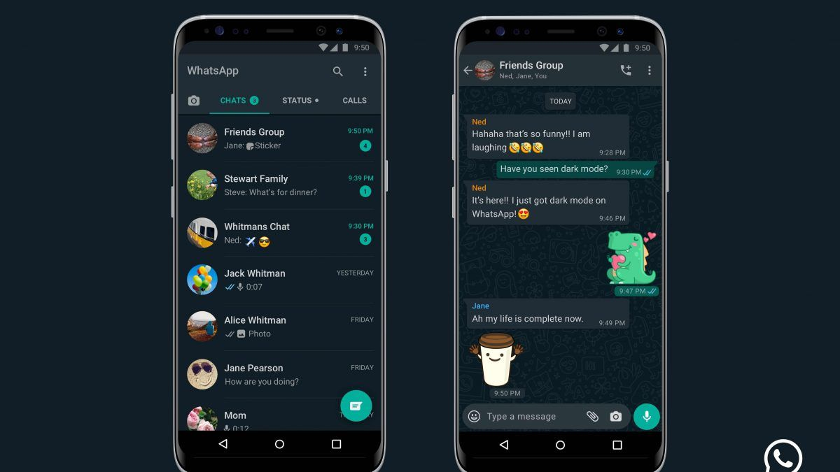 WhatsApp Dark Mode Now Available For iPhone and Android in